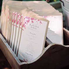 Vintage One-Page Ceremony Programs