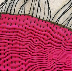 Fabric manipulation - textile design - Paola Moreno. Fiberart / Arte Textil. Chile.