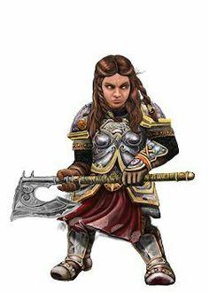 Dwarf Fighter Girl
