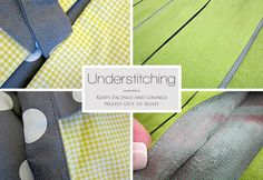 Understitching: How to Create a Sharp, Seamed Edge