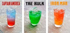 Serve Avengers party drinks at your next movie night. Celebrate the super heros; Captain America, The Hulk and Iron Man with special non-alcoholic recipes.