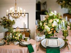 """Mix Modern With Vintage - Set a lively, conversation-starting table by mixing fresh, modern items with cherished heirloom pieces. """"The holidays are a perfect time to pull out your rarely used heirlooms. Pair your grandmother's china with a bold new salad plate for a modern, eclectic look,"""" says designer and event stylist Sarah Granger-Twomey. """"Don't overlook those quirky pieces either. The vintage novelty salt and pepper shakers in the back of your cabinet make a great conversation piece."""""""