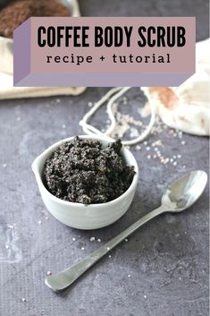 Are you looking to make a body scrub? This homemade DIY coffee body scrub recipe is easy to make and smells SO incredible! #DIY #BodyScrub #CoffeeBodyScrub