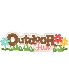 Outdoor Fun Scrapbook Title SVG cutting files free svg cuts camping svg cut files free scal files for scrapbooks