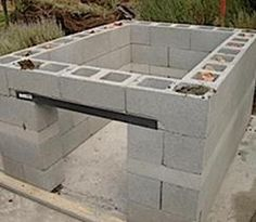 Rocket stove from concrete blocks outdoor kitchens steel studs or concrete block outdoor kitchen is the cinder block furniture 8 easy diy outdoor kitchens steel … Build Outdoor Kitchen, Outdoor Cooking, Outdoor Rooms, Outdoor Living, Outdoor Furniture Sets, Outdoor Decor, Outdoor Kitchens, Outdoor Projects, Home Projects