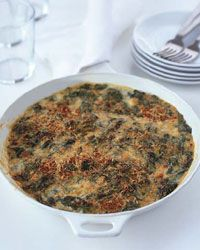 Creamy Spinach with Smoked Gouda Gratin Recipe on Food  Wine    I think this was the one I made years ago that my neighbour loved.  Except I made it with parmasan and a parmasan bechamel/pseudo alfredo
