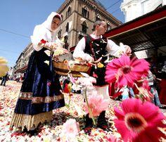 'Sant'Efisio' in Cagliari is the single most important festival of traditional culture on the island-Festa di Sant'Efisio