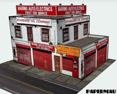 This is the Marino Auto Electrics , an e asy-to-build low relief paper model that will be ready to download  until the end of this week.  L...