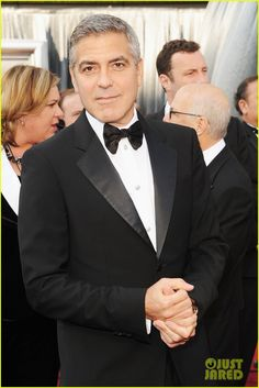 For the men: Clooney in Giorgio Armani tuxedo.