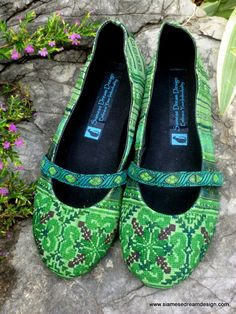 Colorful Green Hmong Embroidered Ballet by SiameseDreamDesign, $38.00