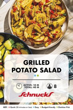 Grilled Potato Salad adds a balance of flavors and textures to the classic potato salad. By grilling the potatoes, you add a crispy crunch to the perfect backyard BBQ side dish to bring it all together. Veggie Recipes, New Recipes, Classic Potato Salad, Baby Red Potatoes, Side Dishes For Bbq, Backyard Bbq, Vegan Gluten Free, Cooking Tips, Grilling