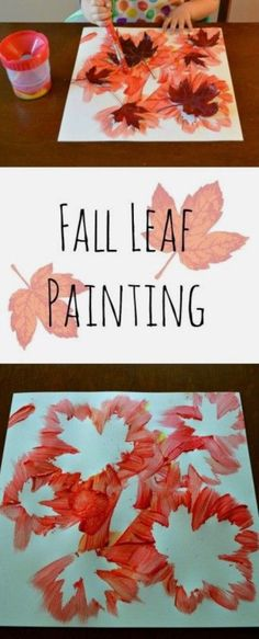 Minne-Mama: fall leaf painting fall crafts for kids, fall leaves crafts, Kids Crafts, Leaf Crafts, Daycare Crafts, Fall Crafts For Kids, Thanksgiving Crafts, Toddler Crafts, Projects For Kids, Holiday Crafts, Art For Kids