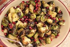 Roasted Brussels Sprouts with Cranberry Pistachio Pesto | Recipe ...