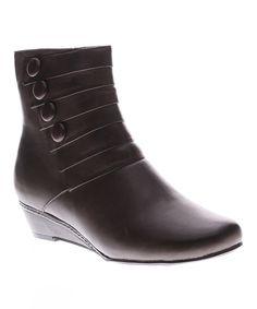 Spring Step Dark Brown Fennel Leather Boot by Spring Step #zulily #zulilyfinds