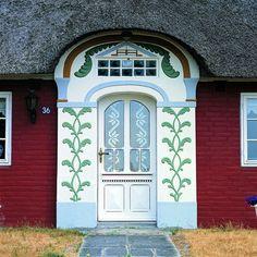 Beautiful Door in Denmark Entrance Ways, Entrance Doors, Doorway, Cool Doors, Unique Doors, Beautiful Architecture, Architecture Details, Porches, Gates