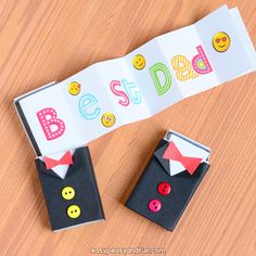 Tuxedo Matchbox Craft - Fars dagshandverk for barn Fathers Day Craft Toddler, Fathers Day Art, Mothers Day Crafts For Kids, Crafts For Kids To Make, Toddler Crafts, Art For Kids, Kids Crafts, Kids Fun, Easy Christmas Crafts