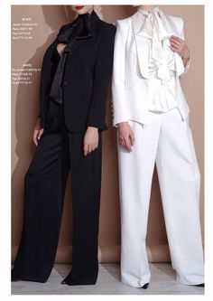#Luxury #Suiting #Styland #LadiesSuits #WhiteSuit #BlackSuitLadies #WhiteTuxedo #BlackTuxedo #PowerLook # PantSuit