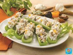 Celery with Apricot Blue Cheese Spread #fruit #veggies #protein #dairy #MyPlate #WhatsCooking