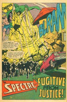 Diversions of the Groovy Kind: Making a Splash: Neal Adams' Spectre The Spectre, Comic Books Art, Book Art, Justice League Dark, Comic Book Panels, Dc Comics Superheroes, Splash Page, Classic Comics, Jazz