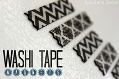 Spool and Spoon: Washi Tape Magnets Cute Crafts, Diy Crafts, Washi Tape Crafts, Cute Wedding Ideas, Classroom Decor, Spoon, Magnets, Arts And Crafts, Diy Projects