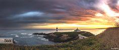 """On fire"" Sunrise on Pancha Island lighthouse ©SergioAbeVilla"