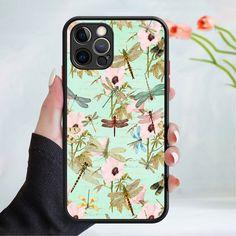 Flower wallpaper phone case cover 202 Black (Apple Models Only) - 7