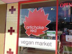 All-vegan grocery store!  Artichoke Red Vegan Market in Orlando, Florida