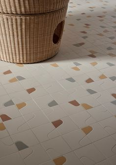 New Mosaico+ projects designed by Massimo Nadalini, Studio Irvine and Kensaku Oshiro Word Mosaic, Mosaic Tiles, Floor Patterns, Tile Patterns, Tile Design, Pattern Design, Toilet Tiles Design, Espace Design, Mosaic Wallpaper