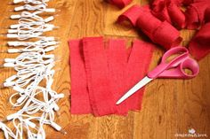 Lighted Burlap Garland For Christmas