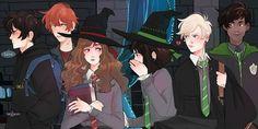 Harry Potter Fan Art, Pansy Harry Potter, Magia Harry Potter, Harry Potter Comics, Mundo Harry Potter, Harry Potter Ships, Harry Potter Anime, Harry Potter Pictures, Harry Potter Fandom