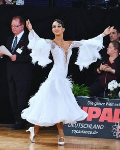 "694 Likes, 2 Comments - DLK_United Design (@dlk_united_design) on Instagram: ""Beautiful Klaudia wearing amazing white DLK United Design dress! #ballroom #ballroomdress…"""