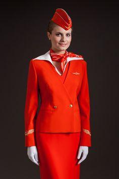Aeroflot cabin crew uniform  #aeroflot