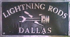 Lightning Rods - Dallas TX Car Club Plaque