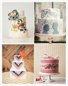 Wedding Trend: Modern Wedding Cakes