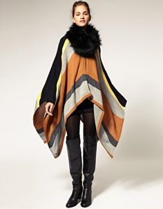ASOS Stripe Knitted Cape  €38.46
