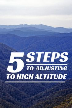 5 steps to adjusting to high altitude. Cities like Quito, Ecuador, Denver, Colorado and Cusco Peru are at high altitudes which can be difficult to adapt to. Read this to find out how to adjust to high altitudes #travel