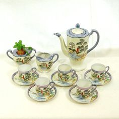 Japanese Vintage Lustreware Coffee Service  by LeGrenierLondon