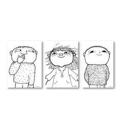 Plakater - 3 i et sæt- Alfons Åberg Gave, Stick N Poke, 3 I, Preschool, Childhood, Snoopy, Stickers, Interior Design, Comics