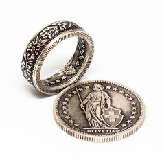Coin Jewelry, Jewelry Rings, Jewelery, Deer Antler Ring, Deer Antlers, Coin Art, How To Make Rings, Coin Ring, Diy Rings
