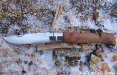 "Modified/custom Opinel No9 pocketknife/folding knife. Tiki/moai handle: ""The big Grumbler"""