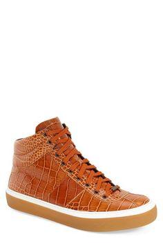 Jimmy Choo 'Belgravi' Embossed High Top Sneaker (Men) available at #Nordstrom
