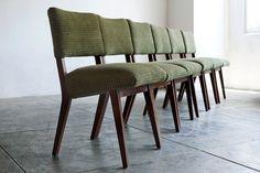 Set of 6 Mid Century Modern Walnut Dining Chairs by RehabVintageLA, $1500.00
