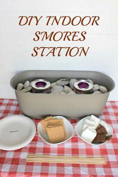 DIY Indoor S'mores Station