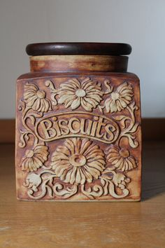 Buscuit Storage jar, Quantock Design Somerset, Studio pottery, rustic, Rodney Billinton by 20thCenturyParade on Etsy