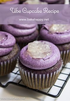 Pinterest Ube Macapuno Cupcakes