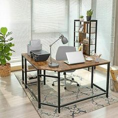 VASAGLE ALINRU Computer Desk L-Shaped Corner Writing Desk Space-Saving Study D #affilink #Desk #writingtable #desksetup #officedesk #officedesign #officedecor #office #gifts #desk #officefurniture #handmade #giftideas #linkinbio #etsy #etsyshop #etsydecor #etsyfinds #businnescard #myetsy #handmadebyme #bc #deskdecor #officespace #etsyseller #officegoals #happynewjob #concretedecoration #handmadeconcrete #concretedecor #concrete #handmadegifts #newjobgift #bhfyp Rustic Desk, Rustic Industrial, Rustic Office, Industrial Design, Corner Writing Desk, Corner Desk, Corner Office, Home Desk, Home Office