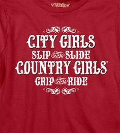 Red - Women's Country Girls ™™ Grip & Ride Long Sleeve Tee