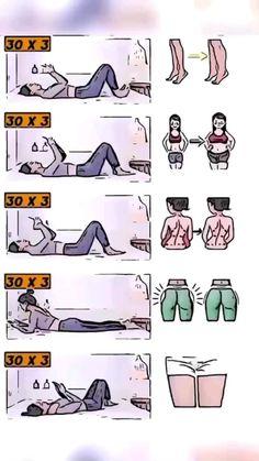 Full Body Workouts, Fitness Workouts, Body Weight Leg Workout, Slim Waist Workout, Gym Workout Videos, Gym Workout For Beginners, Fitness Workout For Women, Easy Workouts, Bodyweight Workout Routine