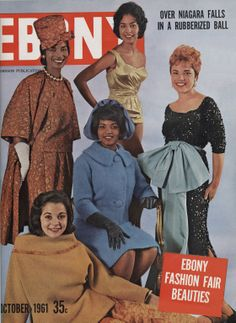 For 50 years, Ebony magazine's Fashion Fair toured the country. The models knew how to captivate from the catwalk, helping fashion the dreams of the black women who flocked to their shows. Jet Magazine, Black Magazine, Life Magazine, Black Love, Black Is Beautiful, Black Art, Beautiful People, Ebony Magazine Cover, Magazine Covers