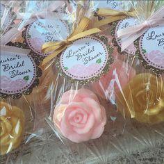 30 ROSE SOAP FAVORS  Rose Bridal Shower Favors Soap Roses